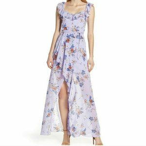 ALI & JAY LILAC SURE THING FLORAL MAXI DRESS